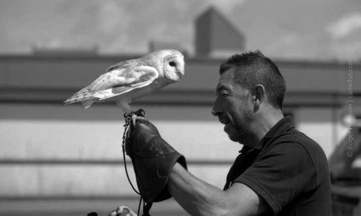 Me and my owl G1, 90mm, FP4+