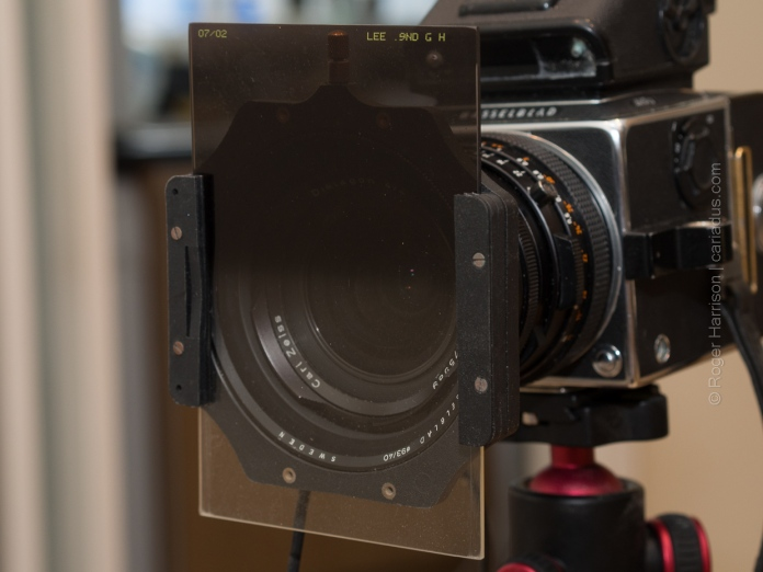 An ND grad filter with the push-on filter holder