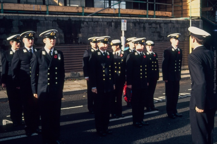 Royal Navy on parade (Olympus OM-4ti, 85mm)